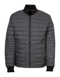 Orobos Long Sleeve Quilted Bomber Jacket Charcoal