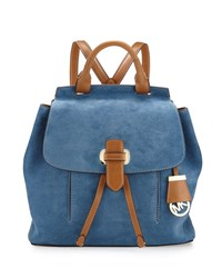 Michael Michael Kors Romy Medium Suede Backpack Denim Blue