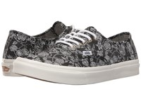 Vans Authentic Slim Chambray Retro Floral Black Athletic Shoes