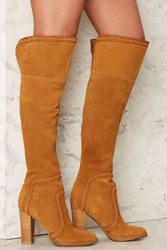 Whip Into Shape Knee High Suede Boot Brown