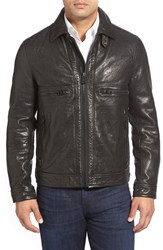 Andrew Marc New York Men's 'Exeter' Lambskin Leather Trucker Jacket