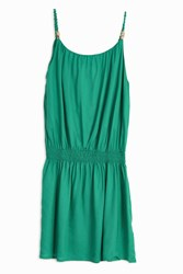Heidi Klein Drop Waist Mini Dress Green