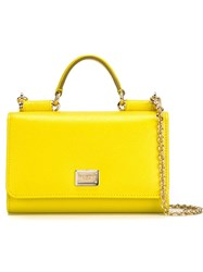 Dolce And Gabbana Small 'Von' Wallet Cross Body Bag Yellow And Orange