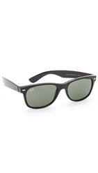 Ray Ban New Wayfarer Sunglasses Black Green