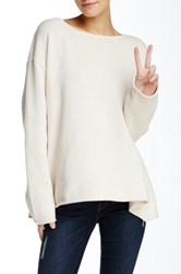 Wildfox Couture Essentials Chunky Knit Roadie Sweater White