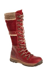 Bos. And Co. Women's Gabriella Waterproof Boot Red Scarlett Mountain Leather