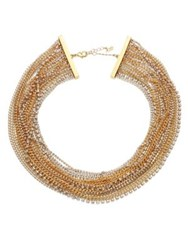 Abs By Allen Schwartz Out Last Night Multi Strand Necklace Gold