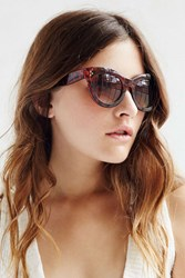 Urban Outfitters Alice Chunky Cat Eye Sunglasses Brown