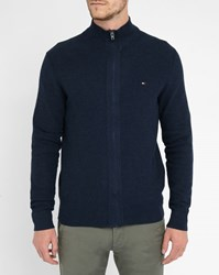 Tommy Hilfiger Navy Zipped Cardigan Blue