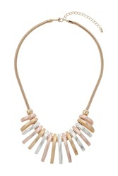 Topshop Brushed Collar Necklace Mixed Metal