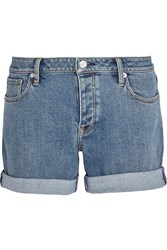 Burberry Brit Stretch Denim Shorts Mid Denim