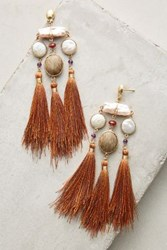 Anthropologie Oriole Earrings Peach