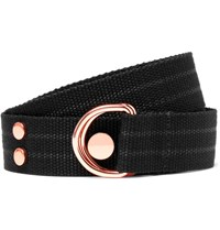 Givenchy 3Cm Black D Ring Woven Cotton Belt Black