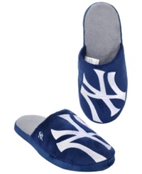Forever Collectibles Men's New York Yankees Big Logo Slippers Navy White