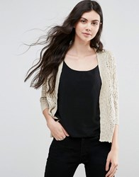 Vero Moda Open Knit Cardigan Oatmeal Cream
