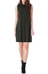Michael Stars Women's Cowl Neck Rib Sweater Dress Taragon