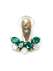 Yvonne Leon Emerald And Diamond Lobe Earring Metallic