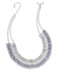 Inc International Concepts Faux Suede Woven Chain Collar Necklace Only At Macy's Grey