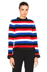 J.W.Anderson J.W. Anderson Boucle Sweater In Red Blue Stripes Red Blue Stripes