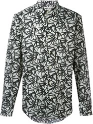 Marc Jacobs Leaf Print Shirt Blue