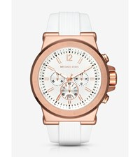 Dylan Rose Gold Tone And Silicone Watch