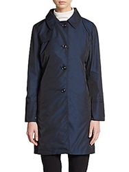 Cinzia Rocca Due Button Front Nylon Trench Coat