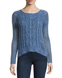 5Twelve Long Sleeve Cable Knit Sweater Blue