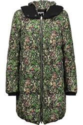 M Missoni Printed Shell Down Hooded Coat Multi