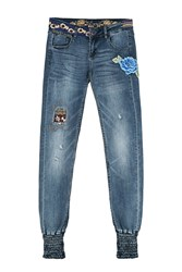 Desigual Broke De Jeans Dark Blue