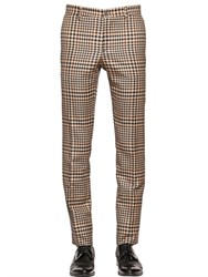 Etro 18Cm Prince Of Wales Cool Wool Pants