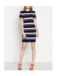 Whistles Striped Knit Tee Dress Multi