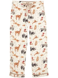 Fat Face Forest Friends Trousers Ivory
