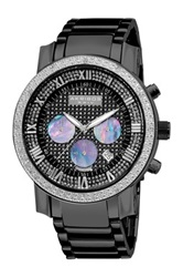 Akribos Xxiv Men's Diamond Chrono Watch Black
