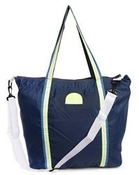 Sundek Navy Nylon Beach Bag