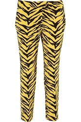 Moschino Cheap And Chic Animal Print Crepe Straight Leg Pants