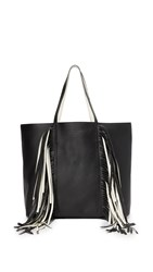 Sara Battaglia Everyday Shopper Tote Black White