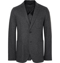 Rag And Bone Charcoal Woodall Slim Fit Unstructured Wool Blend Blazer Gray