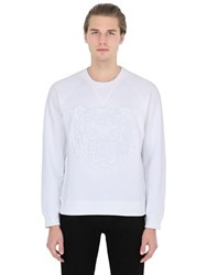 Kenzo Mesh Tiger Embroidered Cotton Sweatshirt