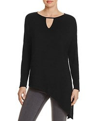 Red Haute Keyhole Asymmetric Tunic Black