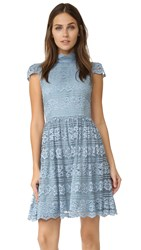 Alice Olivia Maureen Cap Sleeve Dress Light Blue