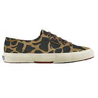 Superga 2750 Flat Lace Up Trainers Leopard Print Leather