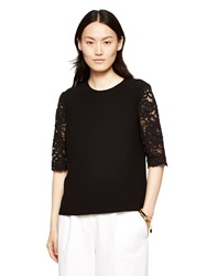 Kate Spade Lace Sleeve Top