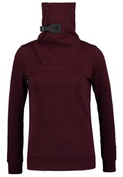 G Star Gstar Avi Deluxe Sweat Sweatshirt Maroon Bordeaux