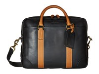 Polo Ralph Lauren Core Leather Commuter Bag Black Cognac Bags