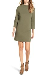 Leith Women's Textured Shift Dress Olive Sarma