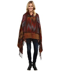 Scully Galena Soft Poncho Red Women's Coat