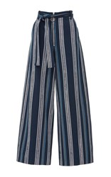 Edun Textured Stripe Skater Pant Blue