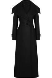 Temperley London Esen Felted Wool Blend Coat Black