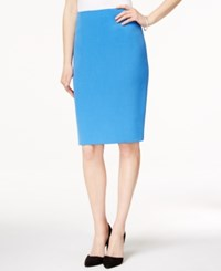 Kasper Pencil Skirt Cabana Blue