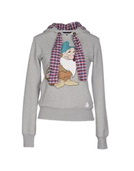Duck Farm Topwear Sweatshirts Women Light Grey